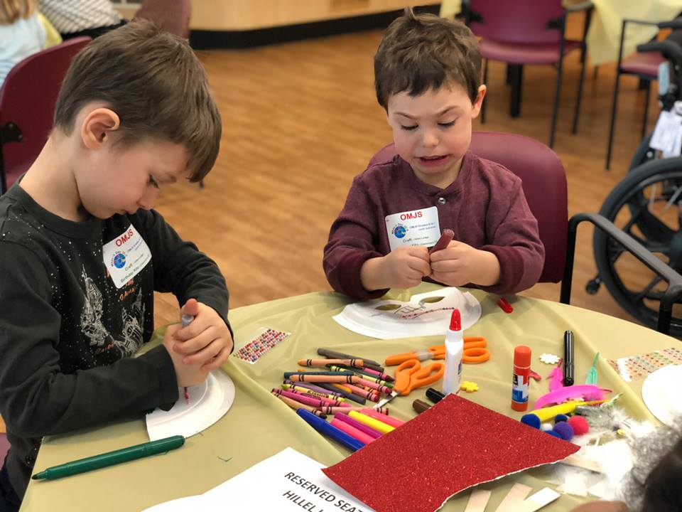 ottawa Hebrew sunday school JK Grade 1 art and craft